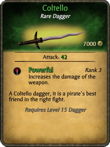 Coltello Card