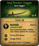 Deal Breaker Dagger Card