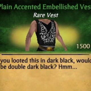 Accented Embellished Vest