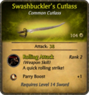Swashbuckler's Cutlass Card