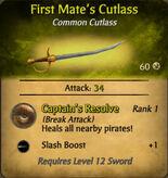 First Mate Cutlass