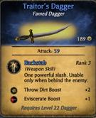 Traiter dagger