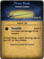 Pirate Blade Card