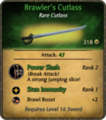 Brawler's Cutlass Card