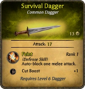 Survival Dagger Card