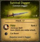 Survival Dagger Card