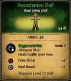 Swordsman Doll Card