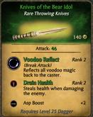 Knives of the Bear Idol