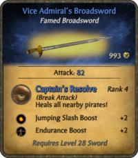 Vice Admiral's Broadsword Card