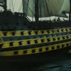 The Endeavour going into battle.