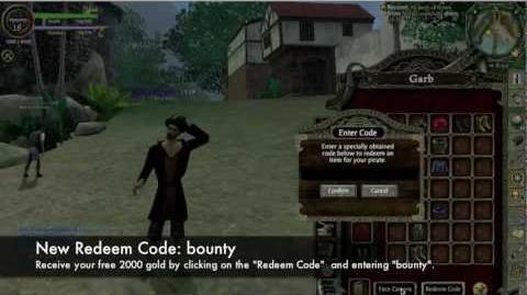 "POTCO ""Bounty"" - Redeem Code"
