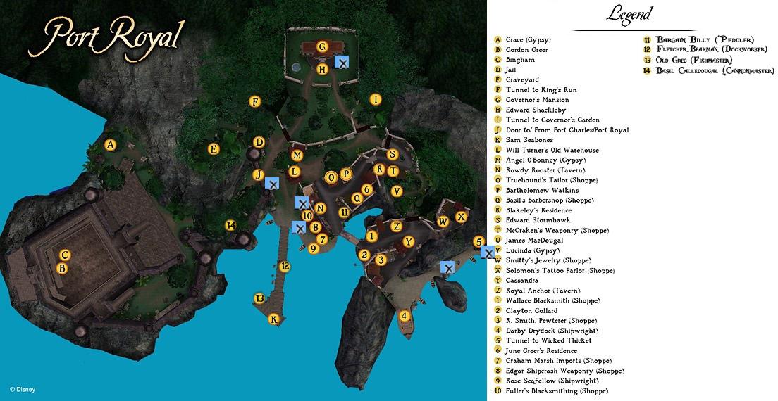 Map Port Royal Pirates Online Wiki
