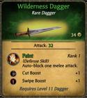 Wilderness Dagger Card
