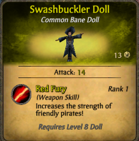 Swashbuckler doll-clearer