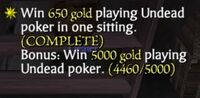 Undead Poker Bonus Item