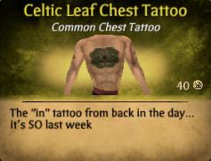 Celtic Leaf Chest Tattoo3
