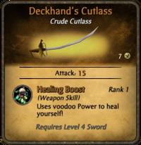 Deckhand's Cutlass