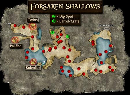 Forsaken Shallows Mini Map
