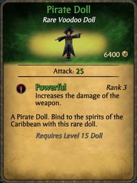 Pirate Doll Card