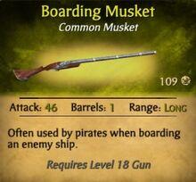 Boarding Musket