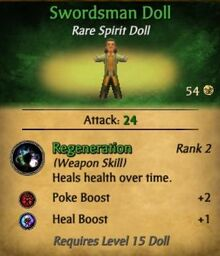Swordsman doll