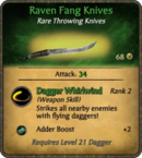 Raven Fang Knives Card