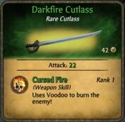 Darkfire cutlass