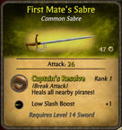 First Mate's Sabre