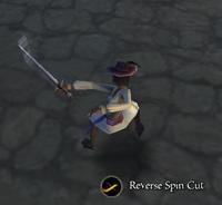 Recerse spin cut
