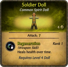 Soldier Doll Card