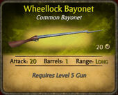 Wheellock Bayonet