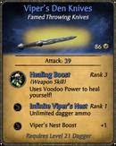 Viper's Den Knives Card
