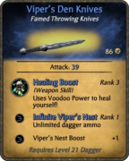 Viper's Den Knives Card
