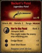 Beckett's Pistol Card