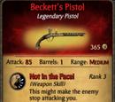Beckett's Pistol
