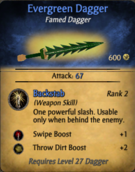 Evergreen Dagger