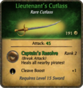Lieutenant's Cutlass Card