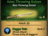 Aztec Throwing Knives