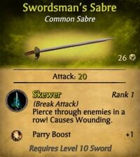 Swordsman's Sabre