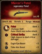 Mercer's Pistol Card