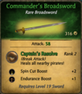 Commander's Broadsword