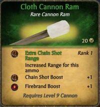 Cloth Cannon Ram
