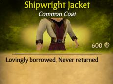 Shipwright jacket clearer