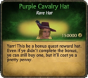 Purple Calvary Hat Card