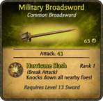 Military Broadsword Card