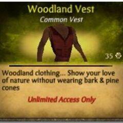 Red Woodland Vest