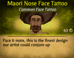 Maori Nose Face Tattoo2