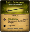 Brute's Broadsword Card