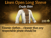 Linen Open Long Sleeve