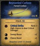 Bejeweled Cutlass Card